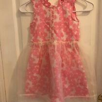Ruby & Bloom Brand Girls Pink & White Flower Dress Size 6 Preowned Photo