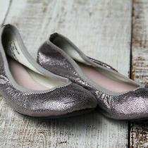 Ruby & Bloom Girl's Sz 3 Youth Silver Shimmer Ballet Flats Shoes Excellent Photo