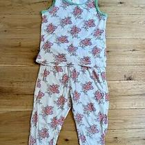 Ruby & Bloom Girls Pajama Set Floral Pattern Size 4 Photo