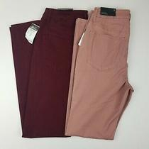 Rue 21 Size 8 High Rise Colored Jeggings (Lot of Two) Blush Pink and Burgundy Photo