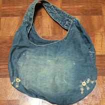 Rugby Ralph Lauren Vintage Cotton Casual Denim Tote Hobo Bag Photo