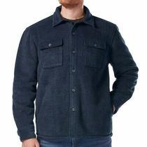 Rugged Elements Mens Fleece Lined Shirt Jacket - Blue (Select Size S-Xlt) Photo
