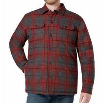 Rugged Elements Men's Insulated Shirt Jacket Utility Dragon Blood Red Plaid Xl Photo