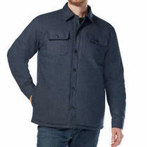 Rugged Elements Men's Insulated Shirt Jacket Utility Navy Blue Small S Free Ship Photo