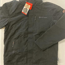 Rugged Elements Mens Trek Jacket Water Wind Resistant Fleece Lined Black Hood Photo