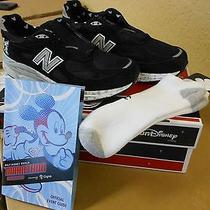 Run Disney Mickey New Balance 2015 Size 10.5 Plus Run Disney Socks/event Program Photo
