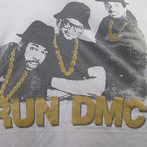 Run Dmc v-Neck T-Shirt Old School Rap Rappers Torrid Size 2 White Cotton Poly Photo
