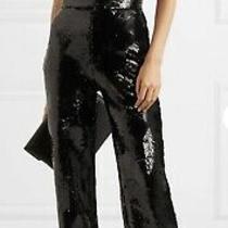 Runway Balmain Black Sequin Jumpsuit New Authentic. Tag Sz 46 / Us 10 Photo