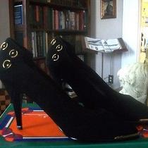 Rush Hour Express Vintage Womens Size 7 1/2 Swade Spike Heels W Gold Metal Nib Photo