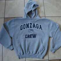 Russell Gonzaga Crew Bulldogs Zags Heather Gray Hooded Hoodie Sweatshirt S Photo