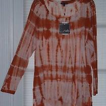Rxb Woman Whiskey Blush Tie-Dye Hign-Low  Hem Tunic Top Size 2x Nwt 72.00 Photo