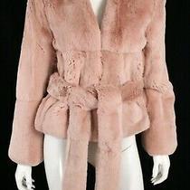 Ryan Roche 7500 Blush Pink Dyed Rex Rabbit Fur Belted Jacket 4 Photo