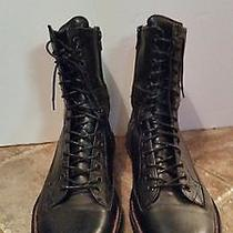 Ryan Rowe Men's Black Vintage Retro Military Combat Boots Lace-Up  Campbell 11 Photo