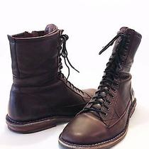Ryan Rowe Men's 'Campbell' Brown Vintage Retro Military Combat Boots Lace-Up 10 Photo