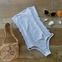 S-1 168 Tavik Anthropologie Free People Charlotte Lavender One Piece Swimsuit S Photo