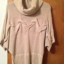 (S) L Beige Sweather Cotton & Acryliccollared Kensie & Solid Photo