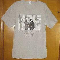 Sle  Elvis Presley & President Richard Nixon 1970 Photo T Shirt Sz Large Photo