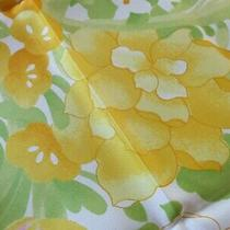 S M Kent Vintage 1978 Avon Burst of Spring Scarf Lime Green Yellow White Japan Photo
