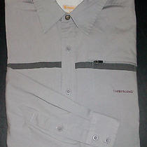 S1468 L Solid Gray Timberland Casual Dress Shirt Outdoor Performance  Photo