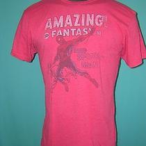 S4596 Amazing Fantasy Spider-Man Vintage Style T-Shirt Mens L Marvel Red Comic Photo