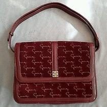 Sac Givenchy Intage Burgundy Shoulder Bag Style Handbag Made in Spain Photo