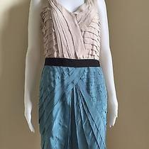 Sachinbabi 100% Silk Tiered Colorblock Sheath Dress Sz 8 Photo