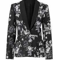 Sachin & Babi Black White Floral Print Women's Size 2 Blazer Jacket 525- 878 Photo