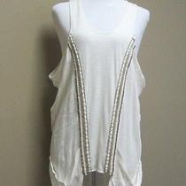 Sachin  Babi for Ankasa Ivory Cotton Jewelry Embellised Blouse Sz L Photo