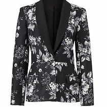 Sachin & Babi Women's Blazer Black Size 6 Floral-Print One-Button 525- 554 Photo