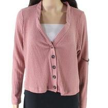 Sadie & Sage Women's Sweater Blush Pink Size Small S Thermal Cardigan 48 298 Photo