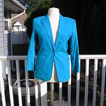 Sag Harbor  Aqua  Blue Blazwe Size 10 Photo