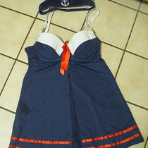 Sailor Lingerie Navy Blue With Headband Hat New Size Small by Rampage Intimates Photo