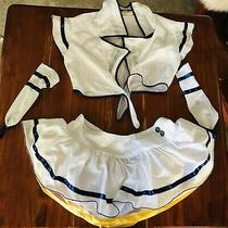 Sailor Moon Costume 4 Piece Set 4 Express Sexy White Blue Yellow Tutu Skirt Photo