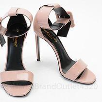 Saint Laurent Blush Pink 9 39 Patent Leather Ankle Strap Sandal Shoe New 895 Photo