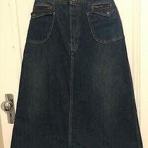 Saint Laurent Denim Midi Skirt Size 28 Photo