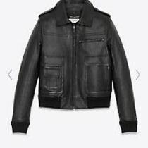 Saint Laurent Leather Jacket Size 38 Photo