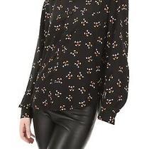 Saint Laurent Mickey Mouse Print Silk Shirt Black Multi Size 38 1190 Photo
