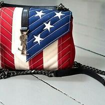 Saint Laurent Paris (Ysl) Quilted American Flag College Flap Shoulder Carry Bag Photo