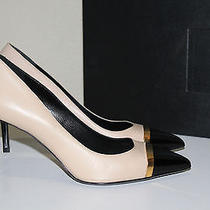 Saint Laurent Sz 7.5 37.5 Classic Paris Nude Leather Point Cap Toe Pump Shoe Ysl Photo