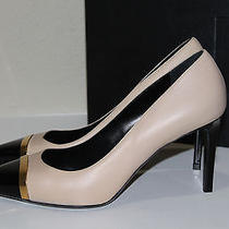 Saint Laurent  Sz 9 / 39 Classic Paris Nude Leather Point Cap Toe Pump Shoe Ysl Photo