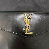 Saint Laurent Uptown Clutch (Black) - Brand New Photo