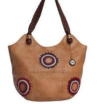 Sak Indio Leather Americana Starburst  Large Tote Handbag Nwt Photo