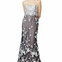 Sale 1500 Marchesa Notte Exclus Black Blush Lace Bead Runway Dress Gown 8 Photo