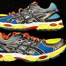 Sale- Asics Gel Nimbus 14 Mens Sz- 16 Blue Yellow Running Shoes Sneakers T241 Photo