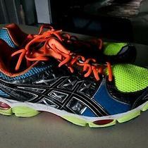 Sale- Asics Gel Nimbus 14 Sz- 16 Blue Yellow Running Shoes T241 Photo
