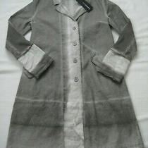 Sale Elemente Clemente Grey Linen Cotton Coat -Size 1 -Uk10-12 -Nwt -299 Photo
