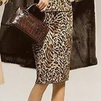 Sale New 42 12  Escada 44  Leopard Sweater Jacket & Skirt  Suit  Wool Germany Photo