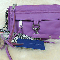 Sale  New Rebecca Minkoff  Mini Mac Grap Silver Crossbody Bag Retail 195.00 Photo