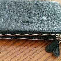 Sale Nwt Coach Pebbled Leather Double Zip Wristlet Black W Box Reduced Photo