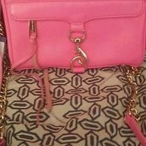 Sale Rebecca Minkoff Mini Mac m.a.c. Neon Pink Gold Crossbody Clutch Bag Photo